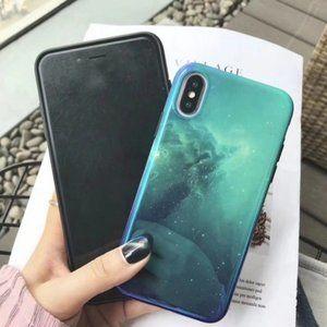 BOGO 50%off - iPhone X/XS Green Soft Galaxy Case